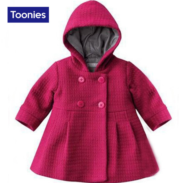 2016 Winter New Fashion Infant Winter Coats Hooded Baby Coat Long Sleeved Outerwear Baby Jackets Winter Warm Baby Girl Jacket