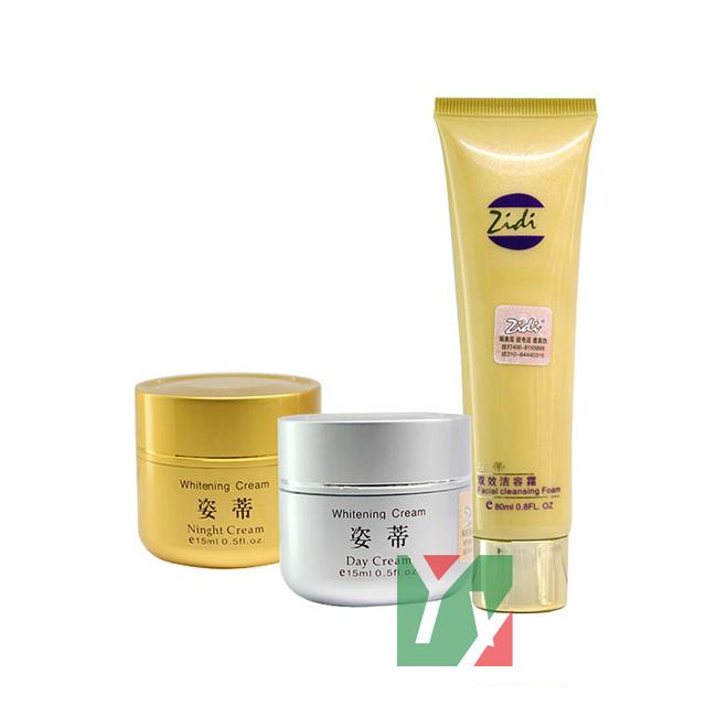 Venta al por mayor calientes Zidi blanqueamiento día + noche crema anti pecas cuidado de la cara 3 unids/set