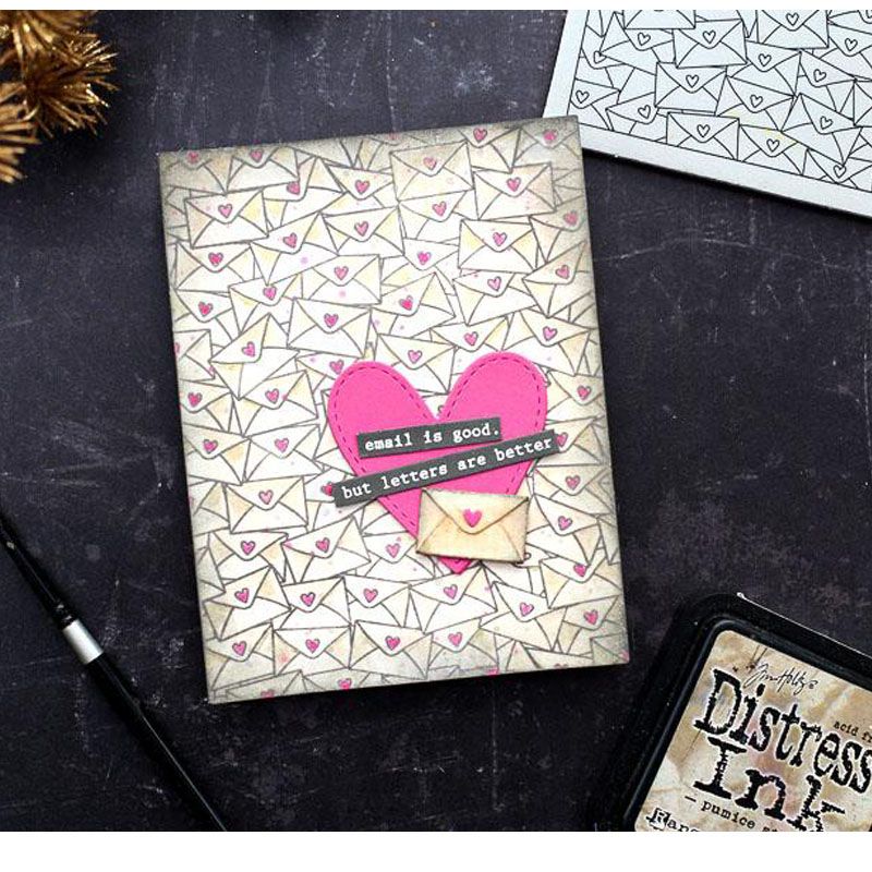 love Heart Mail Metal Cutting Dies for DIY Scrapbooking Embossing Wedding Paper Cards Making Crafts Supplies 2019 New
