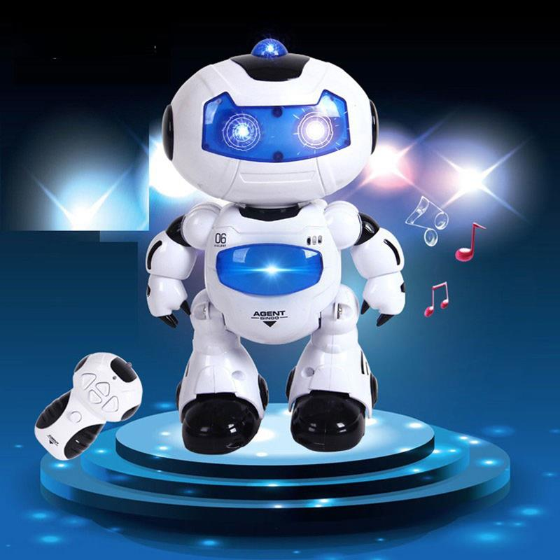 RC Robot Toy Remote Control Musical Electronic Walk Dance Lightenning Christmas Birthday Gift For Child Kid Boy