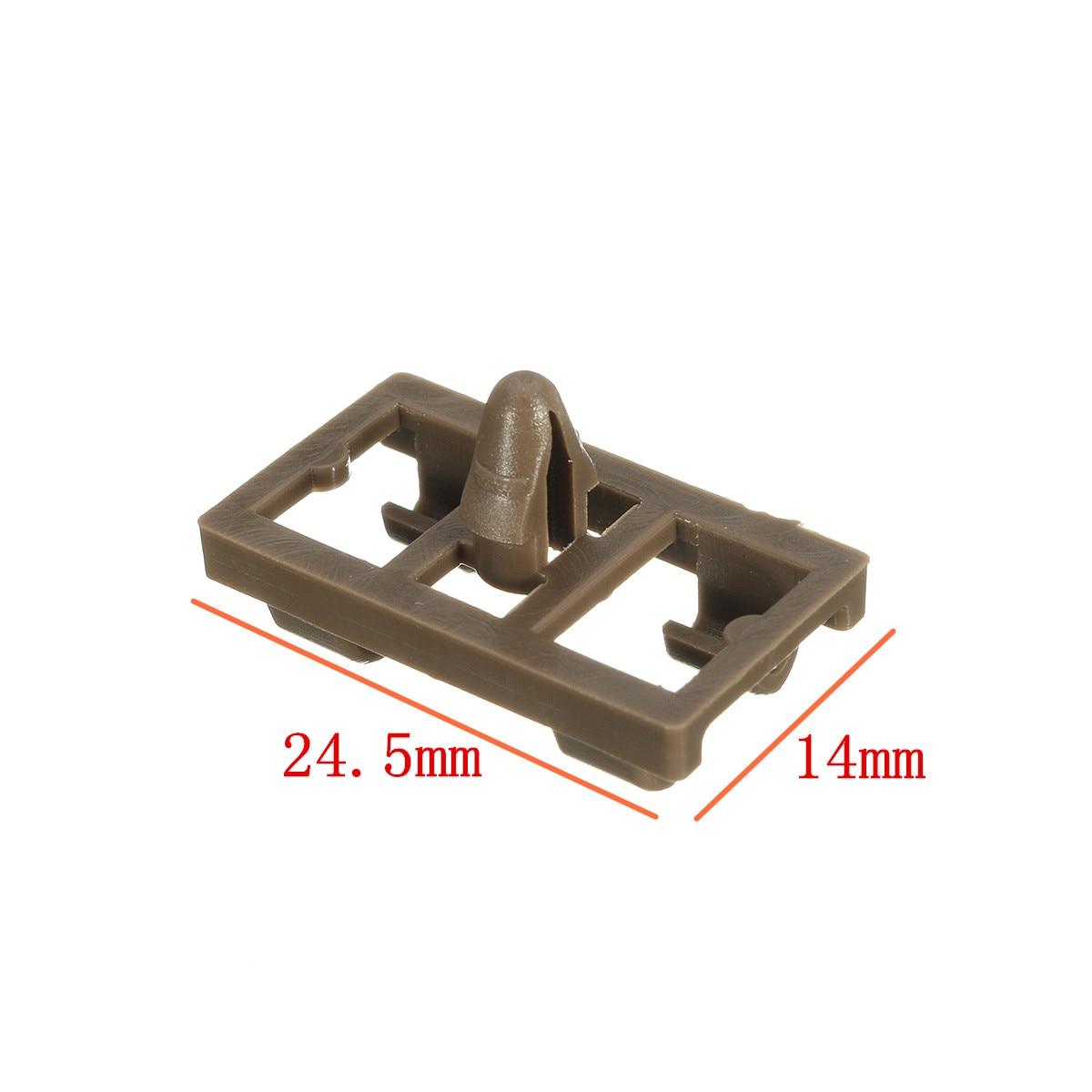 10Pcs Lower Door Weatherstrip Plastic Seal Retainer Clip Front Rear ...