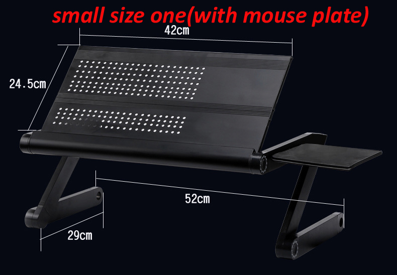 (ONE fan) baffle Multi Functional foldable laptop table stand notebook Desk mount with m ...