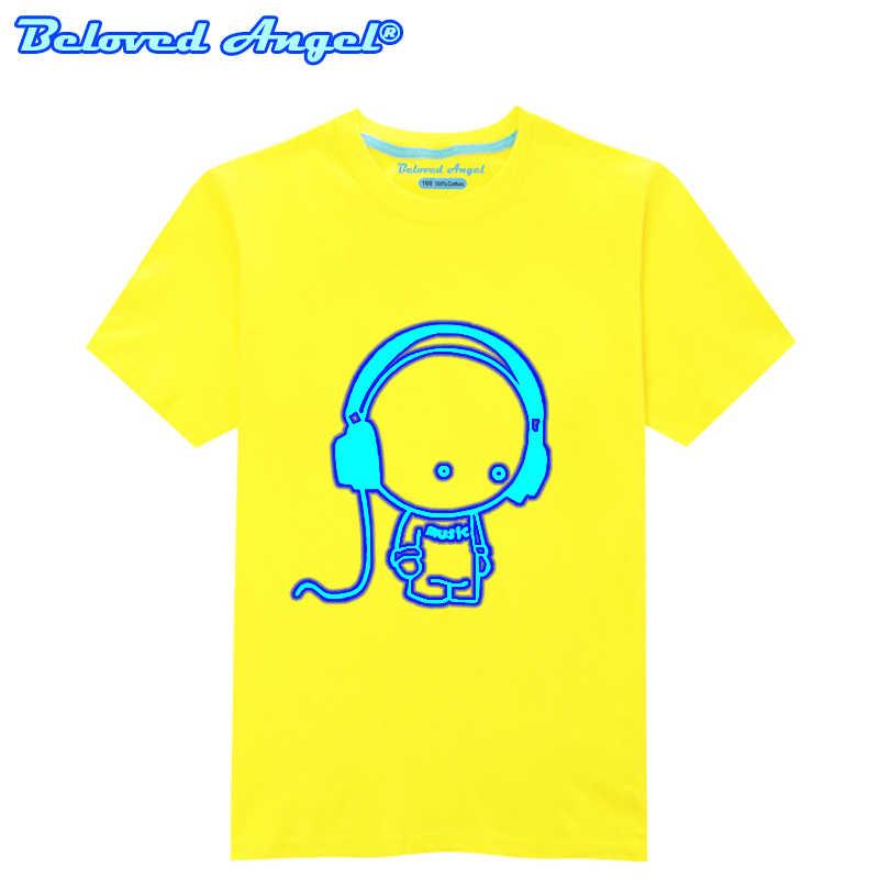 זוהר ילדי חולצה ילדים בנות חולצות זוהר בחושך חולצה עבור בני נוער 3D דפוס קריקטורה צמרות עבור תינוק בנים ספורט בגדים