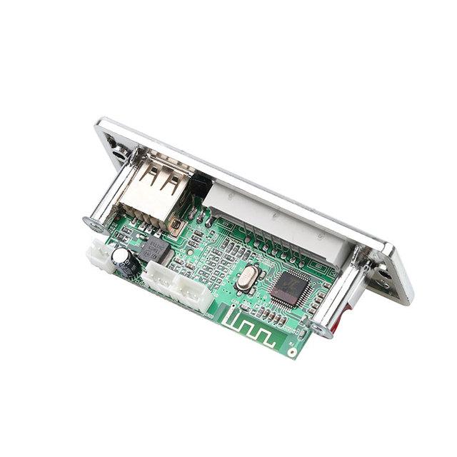 Kebidu Car USB Bluetooth Hands-free MP3 Player Integrated MP3 Decoder Board Module with Remote Control USB FM Aux Radio for Car