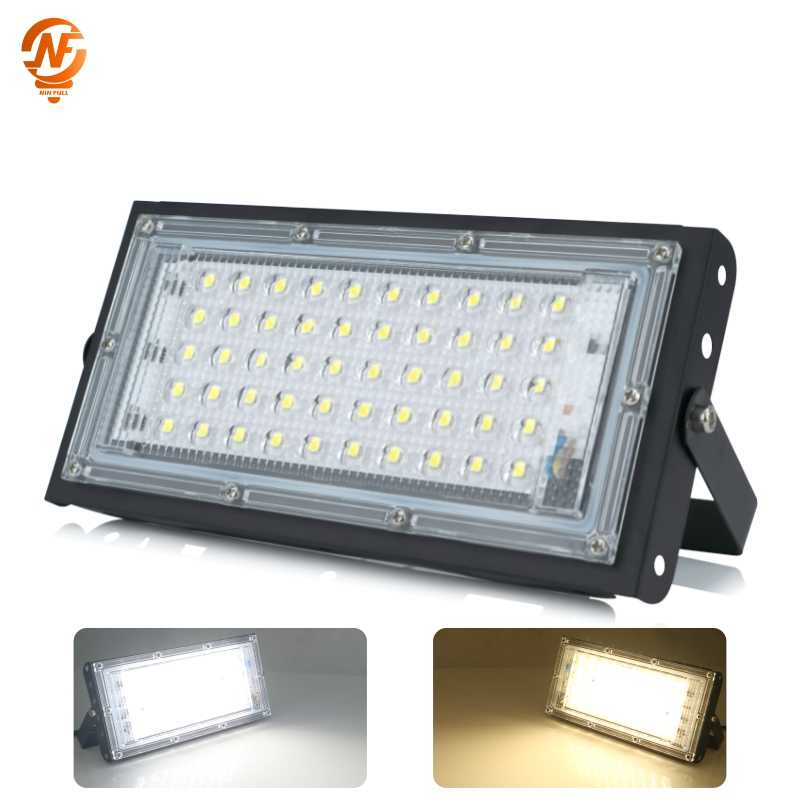 LED Flood Light 50W 220V 240V Perfect Power Floodlight IP65 Waterproof Outdoor Wall Reflector Lighting Garden Square Spotlight