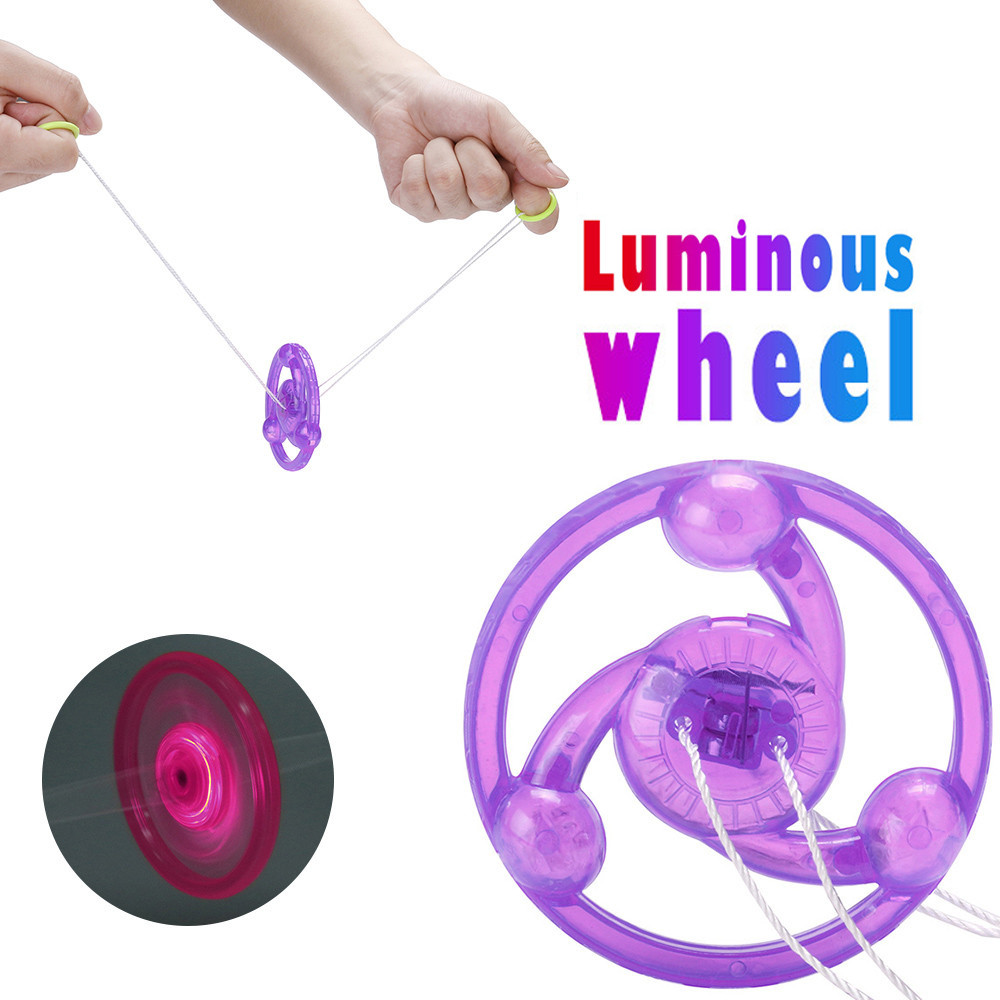 Tops Quality Cool LED Luminous Wheel Glow Kids Children Party Favors Glow Toys Gifts For Child  A521