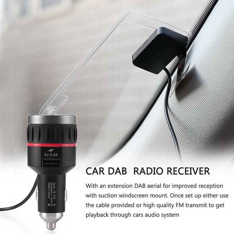 Tuner Receiver With 5V 2 4A A USB Part Car DAB Radio Cigarette Lighter With  Converter Plug-and-Play Knob FM Transmitter