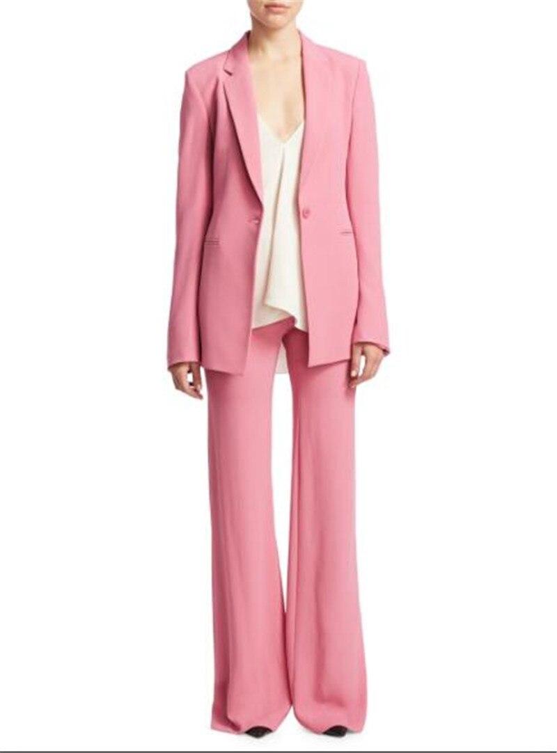Womens Formal Wear Women Pantsuits Pink Women Ladies Custom Made Business Office Tuxedos Formal Work Wear Suits Custom Made