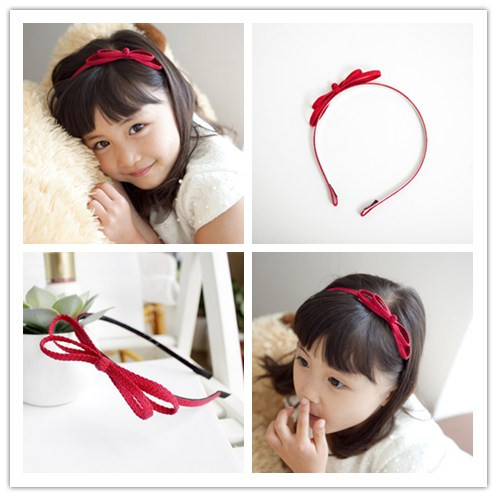 Wholesale 10pcs 2C Fashion Hair Bow Girls Hair Bands Solid Cute Bowknot Hard Hairbands Headware Accessories