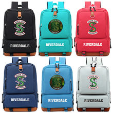 South Side Serpents Riverdale Snake Boy Girl Children School bag Women Bagpack Teenagers Schoolbags Canvas Men Student Backpack(China)