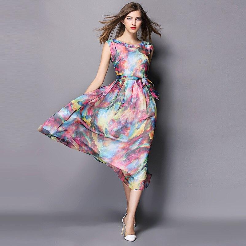 Online Shop Bohemian Wedding Dress 2015 New Arrrival Long silk ...
