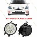 Estilo del coche del LED Luces de la LUZ de Niebla Para TOYOTA AURIS 2007-2011 1 UNIDADES lámparas drl AZUL BLANCO AMARILLO Refit