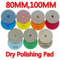 7 Pcs Lot 100mm Dry Polishing Pad 4 Inches Flexible Diamond Polishing Pads Thin Granite Polishing