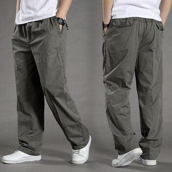 b22f0f0233c4 Mężczyźni Harem Spodnie tactica marki 2018 letnie Spodnie bawełniane spodnie  męskie Spodnie plus size sporting Ugięcia Mężczyzna Biegaczy Stóp pantsL-6XL