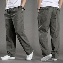 Cotton Pants Joggers-Feet Men Trousers Plus-Size Summer Mens Sagging Tactica Sporting