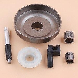 """Image 3 - . 325 """"7 t cilindro de embreagem rolamento da bomba óleo pistão lubrificador worm gear kit para husqvarna 340 345 350 jonsered 2145 2150 peças de motosserra a gás"""