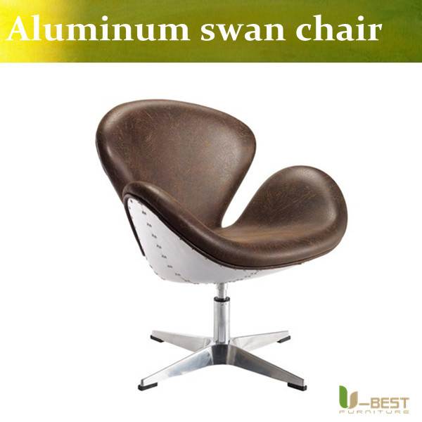 tbest alta calidad de aluminio silla del cisne aviador arne jacobsen aluminio spitfire