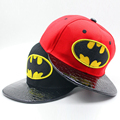 2017 Fashion Children's Leather Snapback Hat Lovely Bat  Printed Hip-hop Baseball Cap Casual Sun Flat Casquette Dsq for Kids