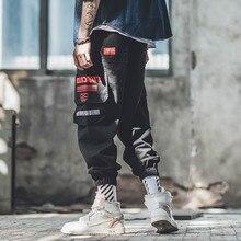 Overalls Man Cargo Pants Khaki Multi-pocket Military Tactical Japanese Harajuku Streetwear Mens Jogger