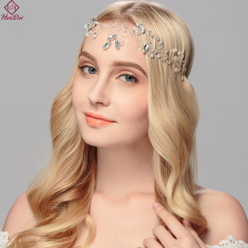 Heeda Kpop Graceful Bride Crown Crystal Wedding Hair Accessories Gift 2017 New High-end Headband Women Wedding Bijoux Decoration
