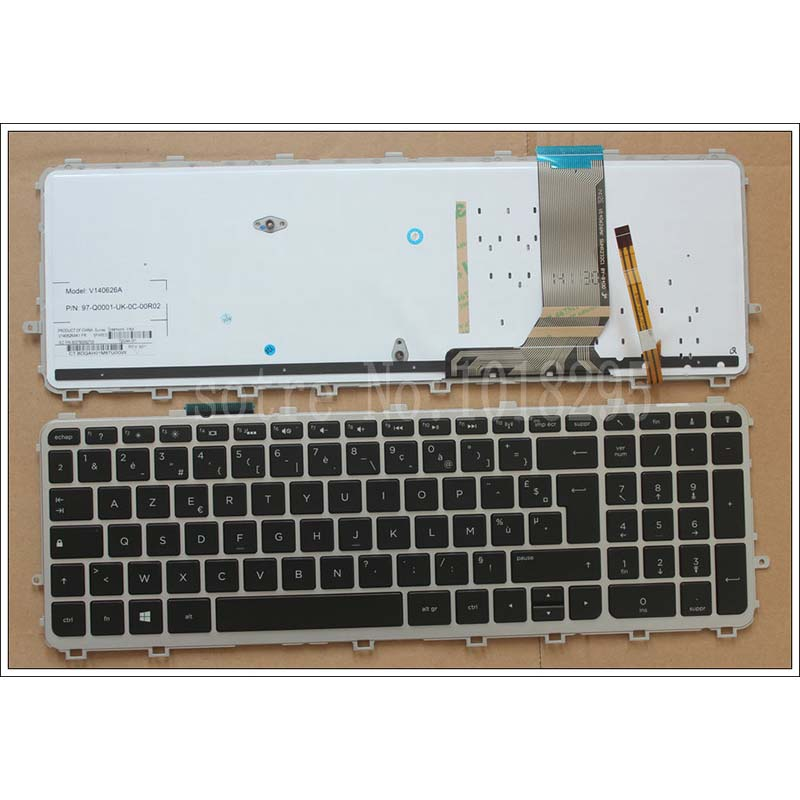 French Laptop Keyboard for HP ENVY TouchSmart 15-J 15T-J 15Z-J 15-J000 15t-j000 15z-j000 15-j151sr with backlit FR keyboard nokotion 720566 501 720566 001 laptop motherboard for hp envy 15 15t j000 15t j100 hm87 ddr3l gt740m 2gb gpu