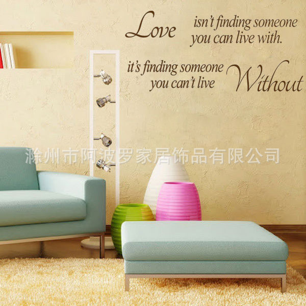 English Proverbs LOVE WITHOUT bedside living room bedroom decorative ...