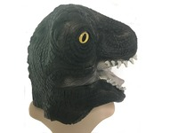 Adult Costume Latex Mask Dinosaur Halloween Fancy Full Head Masks Dinosaur Headgear Halloween Party Masks Supplies
