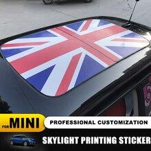 23 desen Union Jack/ayı SunRoof Skylight desen Sticker MINI COOPER için F55 F56 F57 F60 R55 R56 R57 r58 R59 R60 R61 çıkartmalar