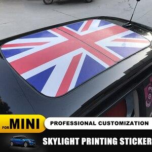 Image 1 - 23 wzór flaga Union Jack/niedźwiedź szyberdach Skylight naklejka ze wzorem dla MINI COOPER F55 F56 F57 F60 R55 R56 R57 R58 R59 R60 R61 naklejki