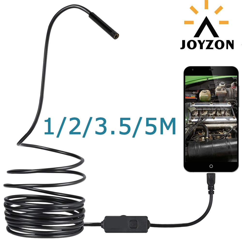 Hot Sale 1/2/3.5/5M 720p Hd USB Endoscope Camera 2MP 8MM Waterproof Snake Tube Inspection Borescope For OTG Android Phone free shipping 8 5mm hd 2mp 720p jpeg usb inspection endoscope borescope photo 98as free magnet mirror hook car diagnostic tools