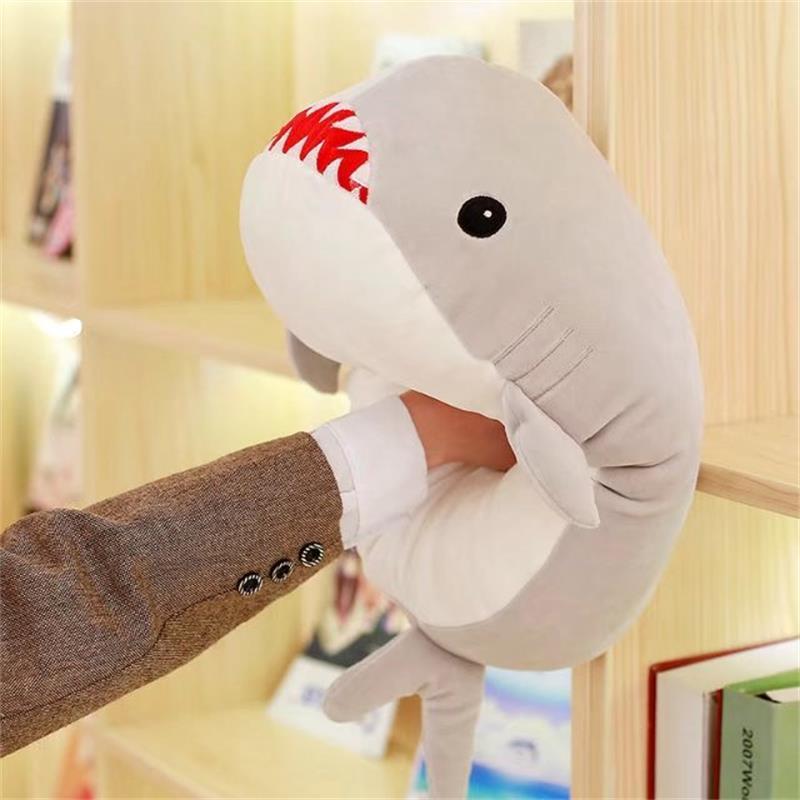 Grand belle peluche requin jouet en peluche gris requin poupée cadeau environ 60 cm 2624