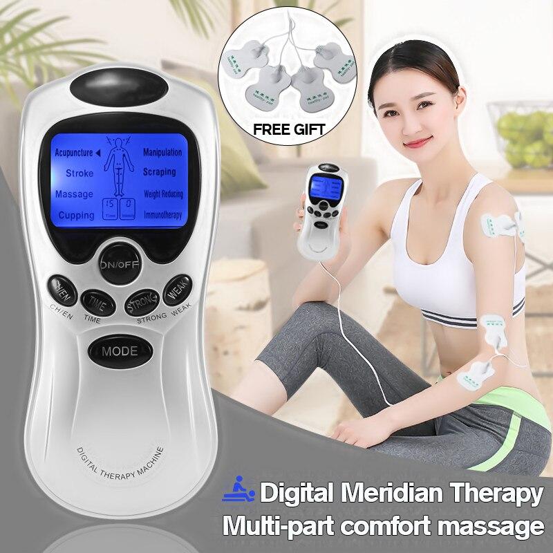 Digitale multifunzione Macchina Cinese 4 Pads Terapia Dei Meridiani Per La Piena Massager Del Corpo di Rilassamento Salute e Bellezza Strumento Regalo