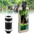 Universal cámara de 8x zoom óptico del telescopio lente de teléfono móvil para bq aquaris m5 x5 e4 e5 a5 m5.5 e4.5 a4.5 lentes de vidrio + metal
