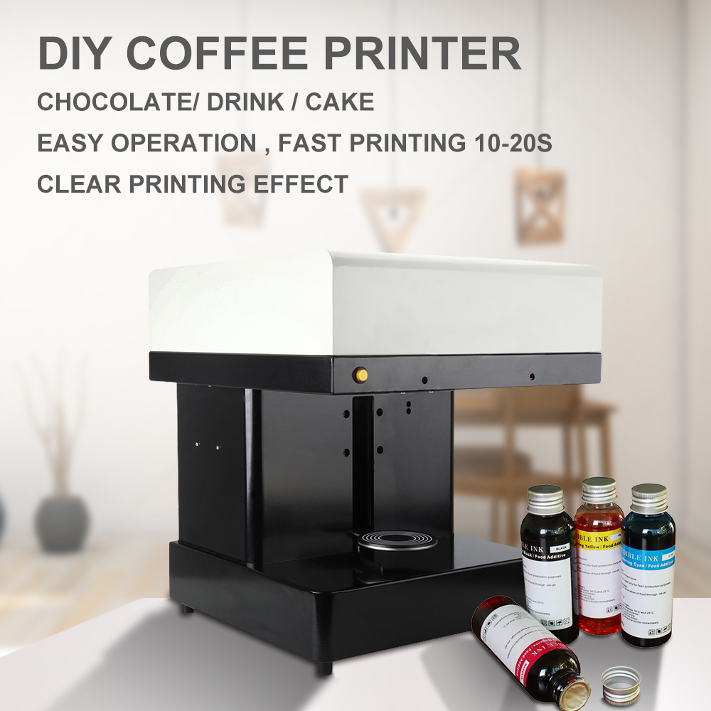 Coffee Printer Cake Coffee printing machine Cappuccino 3d/Cake Selfie Latte Art Coffee Printer with free food ink hot sales coffee and food printer inkjet printer selfie coffee printer full automatic latte coffee printer with 8 inch tablet pc