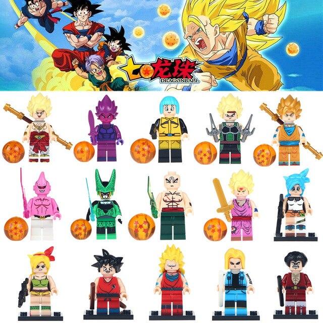 Única Venda Gotenks Dragon Ball ZGoku Son Goten Trunks Tien Shinhan Android 18 Blocos de Construção de Brinquedos para Crianças