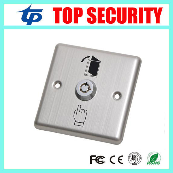 Free shipping door access exit button with emergency key emergency exit switch door release button for access control system exit wound
