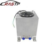 цена на RASTP-New 10L Silver Aluminum Fuel Surge Tank Mirror Polish Fuel Cell with Foam Inside/Sensor RS-OCC022