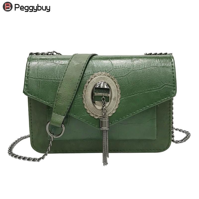 Flap Bag for Women Brand Design PU Leather Bag Small Fashionable Shoulder Chain Bag Lady Iron Tassel Spring Autumn Messenger Bag glitter flap pu shoulder bag with chain