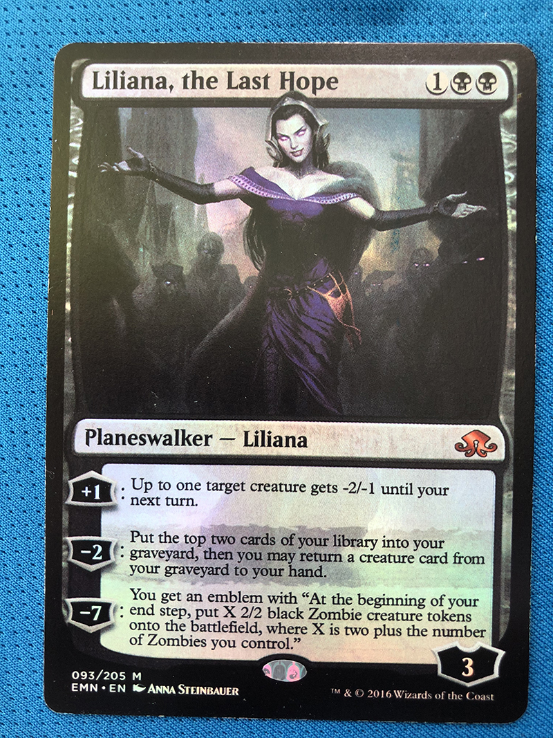 Liliana, The Last Hope Eldritch Moon Foil Magician ProxyKing 8.0 VIP The Proxy Cards To Gathering Every Single Mg Card.
