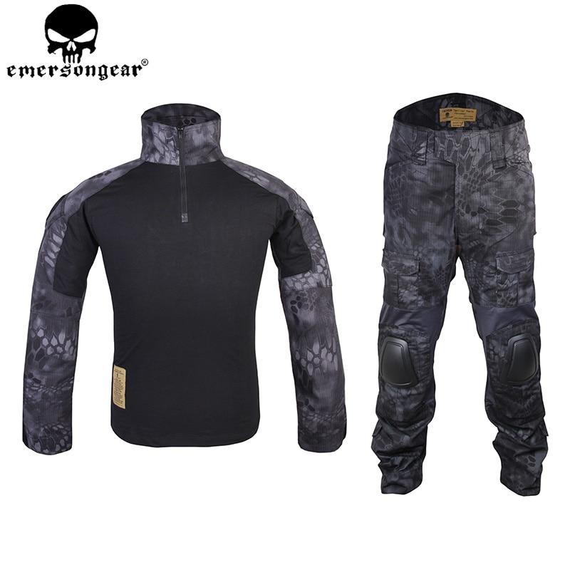 Emersongear Kryptek Typhon Gen2 Combat Uniform Tactical Gear Shirt And Pants Army BDU Set TYP EM6927 new emersongear tactical woman g3 combat uniform pants