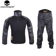Emersongear Kryptek Тифон уровня gen2 борьбе равномерное тактический передач рубашку и брюки армия БДУ комплект Тип EM6927