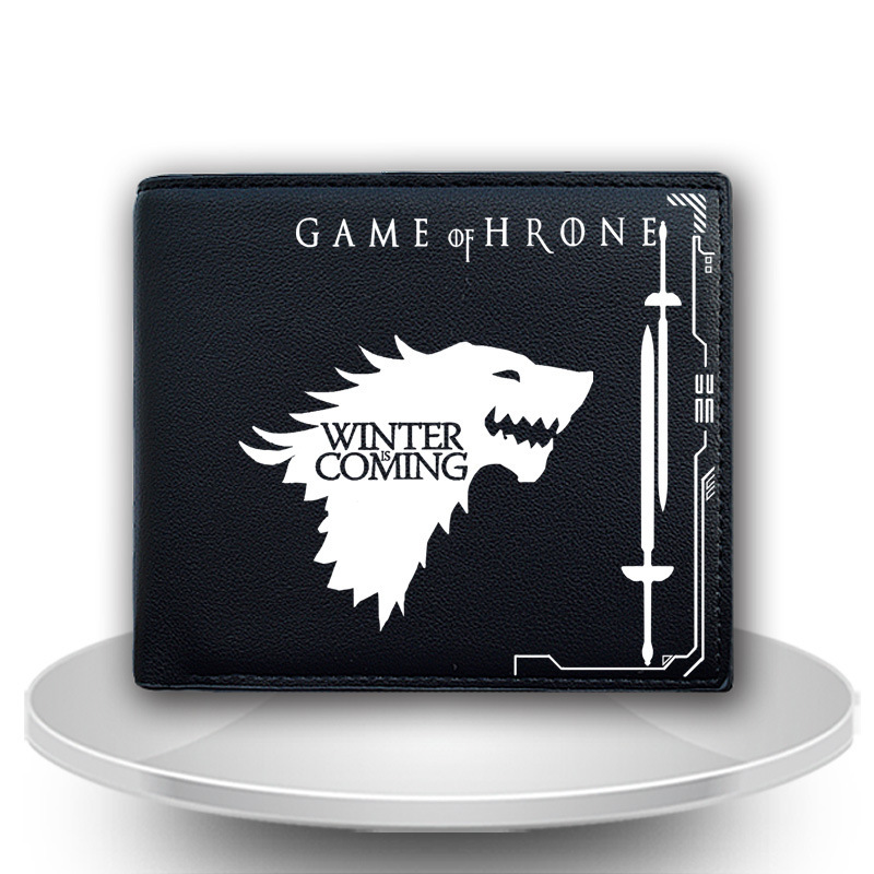 New Game of Thrones Wallets Men Leather PU Wallet Bifold Short Purse Cosplay House Stark Winter Is Coming Wallet Gift