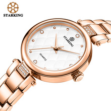 New Fashion 2017 STARKING Luxury Brand Women Dress Watches Casual Rose Gold Relogio Feminin Watches Ladies Movement Wristwatches