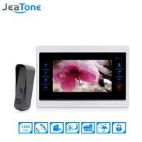JeaTone 7 Inch Color Video Door Phone Intercom Door Bell Door Speaker Hands Free Touch Button
