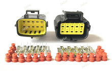 TYCO/AMP Econoseal Serie J 10 Spille 174655 2/174656 7 174657 2 Maschio Femmina Spina Elettrica impermeabile Connettore Auto Denso