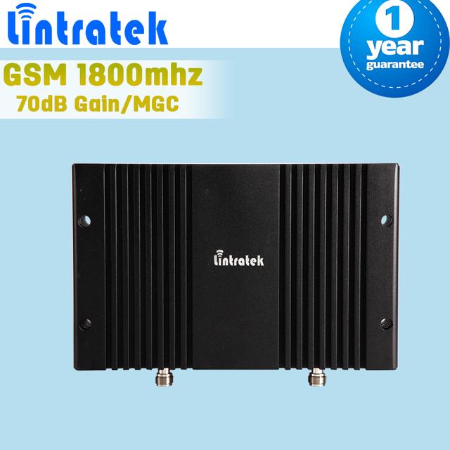 Lintratek pantalla LCD GSM 1800 Mobile amplificador De señal 70dB De ganancia del Repetidor del teléfono móvil 4 G LTE DCS 1800 amplificador Repetidor De Celular