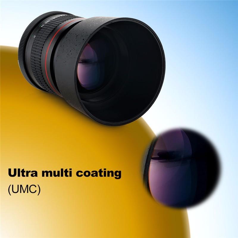 Lightdow 85mm F1.8-F22 Manual Focus Portrait Lens Camera Lens for Canon EOS 550D 600D 700D 5D 6D 7D 60D DSLR Cameras 8