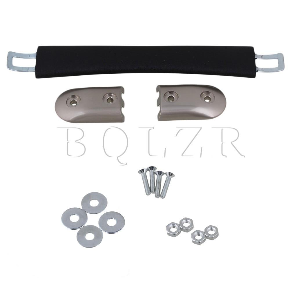 BQLZR Luggage Carry Plastic Handle with Screws Caps 16.5cm Black Strap Handle 2pieces diy bqlzr 9 1cmx10 7x4 9cm black plastic left