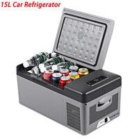 DC 24 в 12 В автомобильный холодильник морозильник 15L автомобильный холодильник AC 110 240 В для автомобиля домашний Пикник быстрое охлаждение до 20