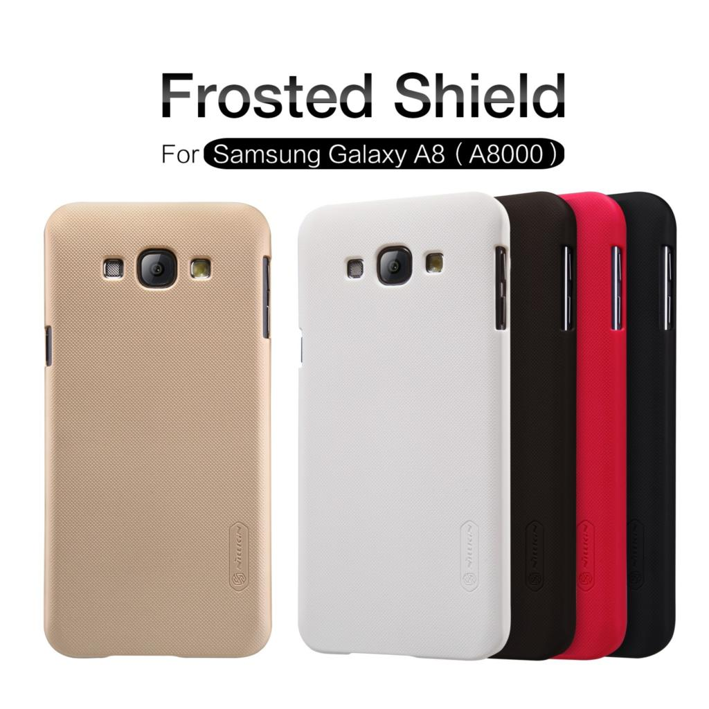 sFor <font><b>Samsung</b></font> Galaxy A8 Case Cover Nillkin Frosted Shield Armor Back Cover Matte Case For <font><b>Samsung</b></font> <font><b>A8000</b></font> image